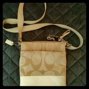 Coach tan mini purse